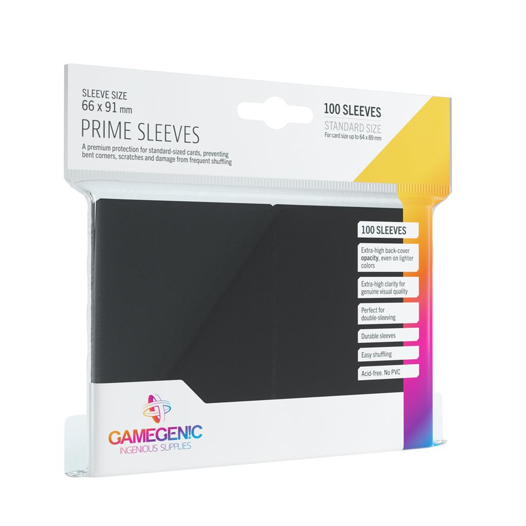 Pack Prime Sleeves Black (100)